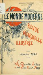 Le Monde moderne 1895, no.1_cover