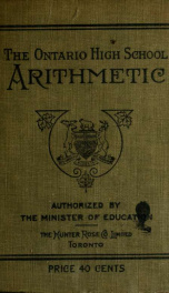 Ontario high school arithmetic_cover