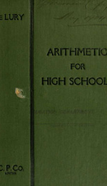 An arithmetic for high schools..._cover