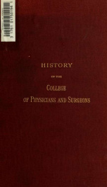 History of the College of Physicians and Surgeons in the City of New York (Medical Department of Columbia College)_cover