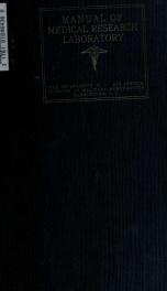 Manual of Medical Research Laboratory. War Department. Air Service. Division of Military Aeronautics_cover
