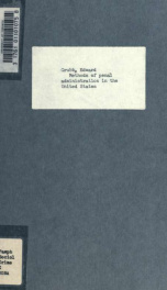 Methods of penal administration in the United States_cover