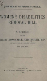 Women's disabilities removal bill_cover