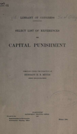 Select list of references on capital punishment_cover
