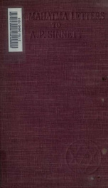 The Mahatma letters to A. P. Sinnett from the Mahatmas M. & K. H._cover