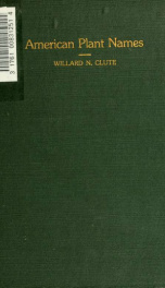 A dictionary of American plant names_cover