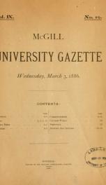 McGill University Gazette v. 09 n.10_cover
