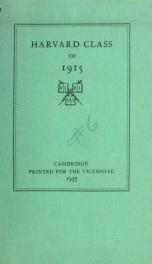 Harvard Class of 1915_cover
