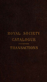 Catalogue of scientific books in the Library_cover