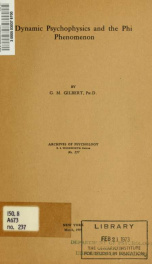 Archives of psychology no 237_cover