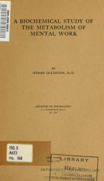 Archives of psychology 164_cover