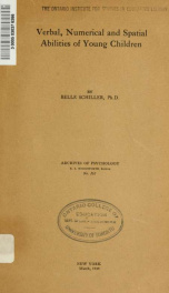 Archives of psychology 161_cover