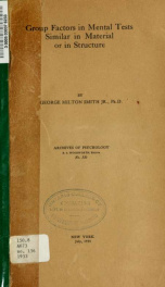 Archives of psychology 156_cover