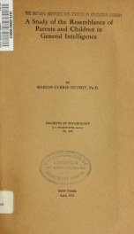 Archives of psychology 149_cover