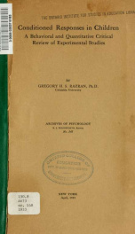 Archives of psychology 148_cover