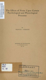 Archives of psychology 147_cover