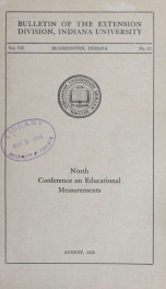 Conference on educational measurements 7 no 12_cover