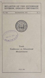 Conference on educational measurements 8 no 11_cover