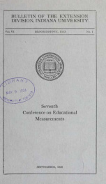 Conference on educational measurements 6 no 1_cover