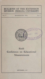 Conference on educational measurements 5 no 1_cover