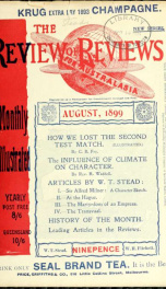 Stead's Review Aug 1899_cover