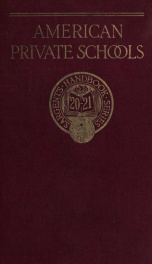 The Handbook of private schools 1920-21_cover