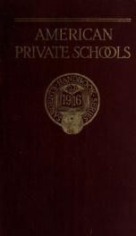 The Handbook of private schools 1916_cover