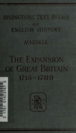 The expansion of Great Britain, 1715-1789_cover
