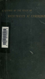 A history of the study of mathematics at Cambridge_cover