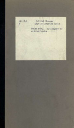 Rules for compiling the catalogues in the Department of printed books in the British Museum_cover