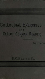 Colloquial exercises and select German reader_cover