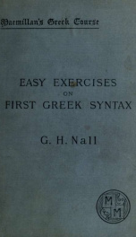 Easy exercises on the First Greek syntax of W. Gunion Rutherford_cover