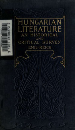 Hungarian literature ; an historical and critical survey_cover
