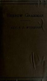 Manual of Hebrew grammar;_cover
