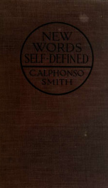 New words self-defined .._cover