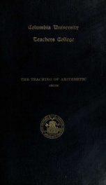 The teaching of arithmetic_cover