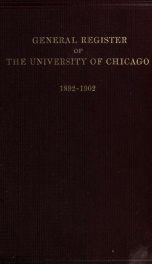 General register of the offices and alumni, 1892-1902_cover