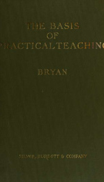 The basis of practical teaching, a book in pedagogy_cover