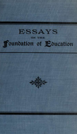 Essays on the foundation of education_cover