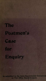 The Inter-departmental Committee on Post Office Establishments;_cover