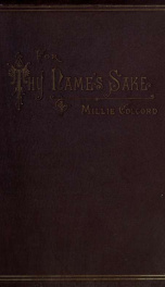 For Thy name's sake, and other poems_cover