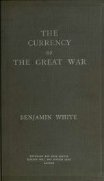 The currency of the great war_cover