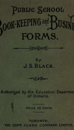 Public school book-keeping and business forms_cover