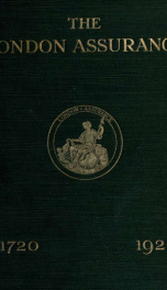 The London Assurance, 1720-1920_cover