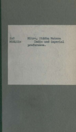 India and imperial preference_cover