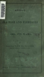 Report on the sea fish and fisheries of India and Burma_cover