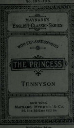The Princess; with introductory and explanatory notes_cover