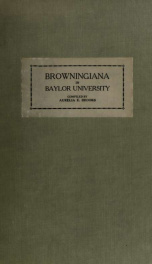 Browningiana in Baylor University_cover