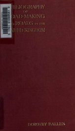 Bibliography of road-making and roads in the United kingdom_cover