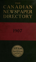 McKim's directory of Canadian publications 1907_cover
